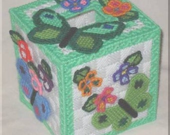 Customized Butterfly Tissue Box Cover