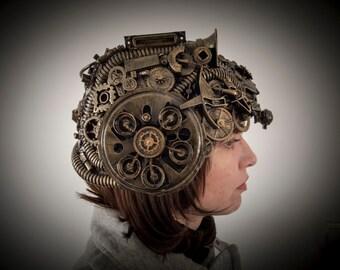 steampunk / techno phantom mascarade helmet