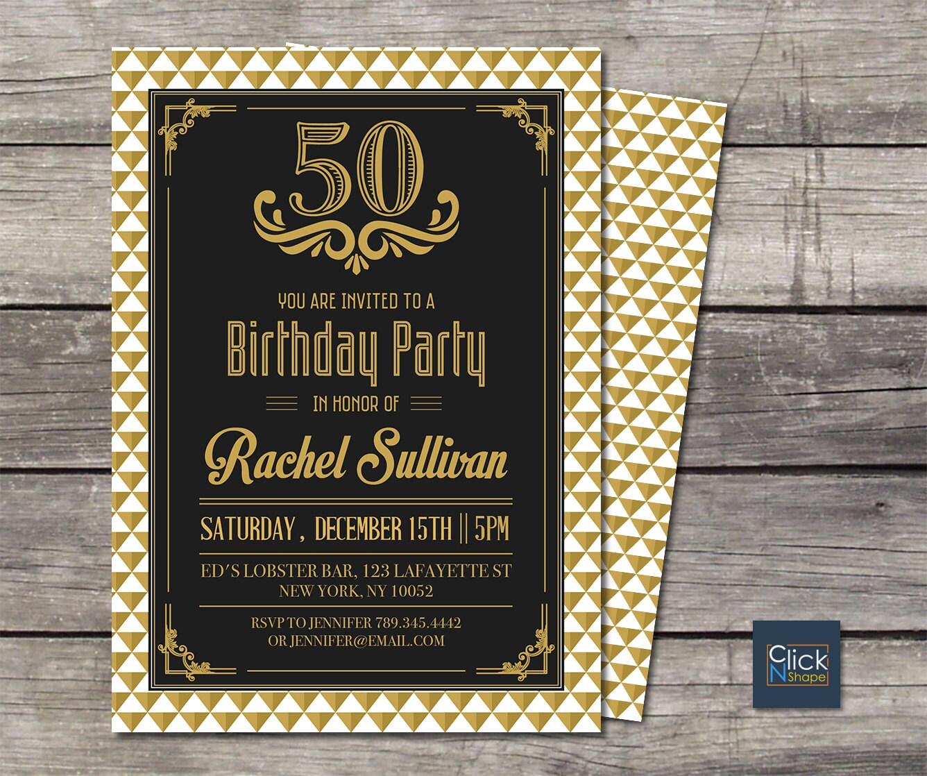 40th 50th 60th 70th Birthday Invitation // Adult By