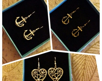 SALE Charm Dangle Earrings