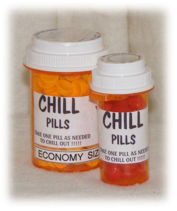 "FUNNY ""CHILL PILLS"" . . . Gag Gift, candy pills"