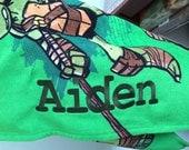 Nickelodeon Teenage Mutant Ninja Turtles Ooze Hooded Bath Wrap TMNT  – Personalized