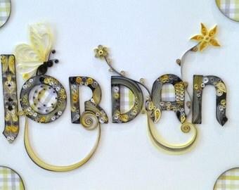 Quilling - Custom Nameplate Wall Hanging, Jordan