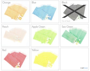 """25 Chevron Candy Bags - Assorted Colors - 5 1/4"""" x 3 1/4"""""""