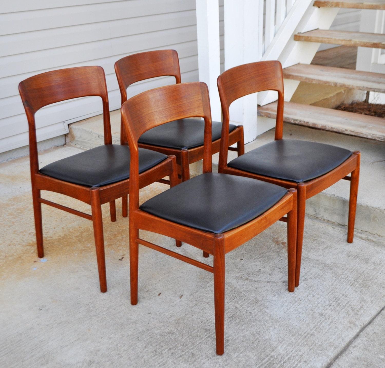 Set of fantastic ks mobler solid teak danish dining chairs