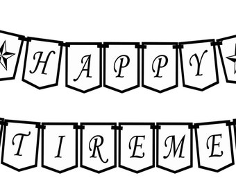 HAPPY RETIREMENT (Classic) Printable Party Banner and Decoration