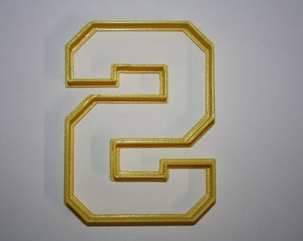 Letter S Cookie Cutter Varsity Letter Cookie Cutter