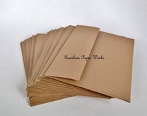 Kraft A7 Envelopes - 25 ct - 5.25 X 7.25 inches - 70# - Acid and Lignin Free
