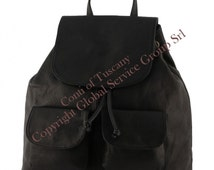 Genuine Leather Backpack, Zaino in Pelle, Sac à dos en cuir, Leder Rucksäcke, Leren Rugzak, Made in Italy, COT7006 - Conti of Tuscany
