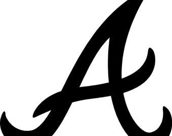 Atlanta Braves baseball car window sticker decal