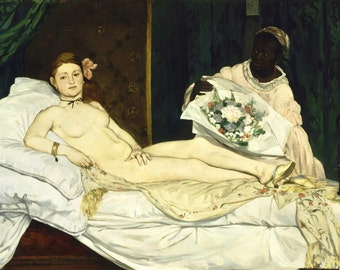 Olympia by Edouard Manet, in various sizes, Canvas Print