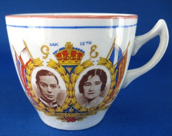 1937 Coronation King George VI Queen Elizabeth II Cup Only Princesses Royal Souvenir Teacup