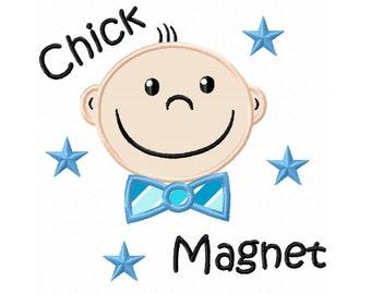 Chick Magnet Applique Machine Embroidery DESIGN NO. 395