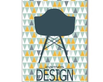 poster Eames chair with scandinavian trend