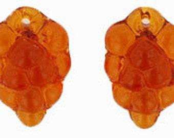 Czech Glass 11x16mm Grape Bunch - Topaz - Pack 10