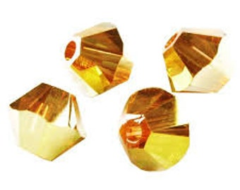 Swarovski 6mm Bicone - Crystal Metallic Sunshine - Pack 10