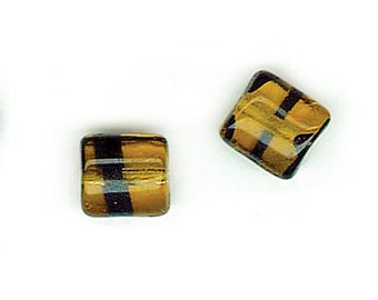 Czech Glass Chicklets 8x7mm Tortoise Shell - Pack 25