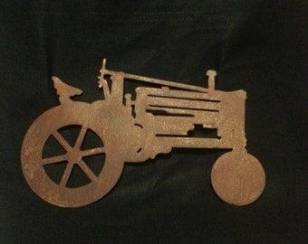 Rustic Tractor - Metal Art