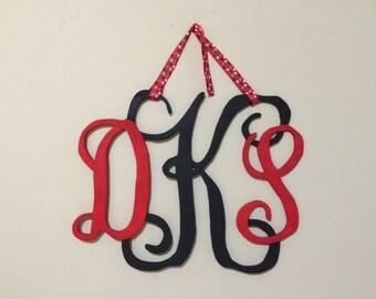 Personalized Monogram Wood Door Hanger