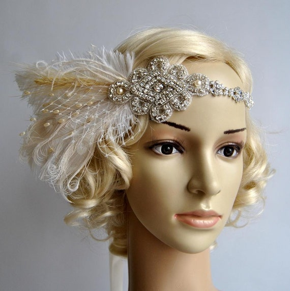 Great Gatsby Wedding Up Do Hair With Bangs Fringe Vintage
