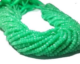 8% off sale Beautiful Agate Chrysoprase Faceted Roundel-Agate Chrysoprase faceted beads -faceted Agate beads- Full 13.5 inch Strands 3m.m.