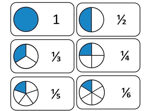 It is a photo of Exceptional Printable Fraction Cards