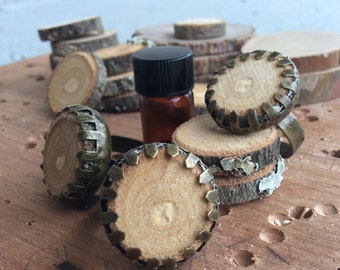Diffuser Ring for Essential Oils Made with Locally Sourced, Untreated Wood -- Ships FREE