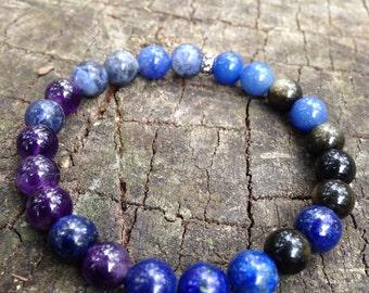 Chakra bracelet , Third Eye Chakra Healing Bracelet, Australian handmade