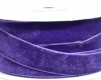 "5/8"" Velvet Ribbon - Purple - 10 Yards"