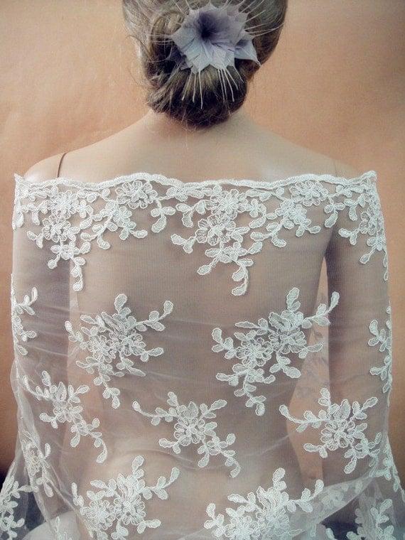 Vente-mariage dentelle, broderie dentelle pour robe de mariée, robes ...