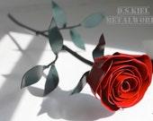 Metal Red Rose, 11th Anniversary, Steel Anniversary, Steel Flower, 6th Anniversary, 4th Anniversary, Wedding Anniversary, Metal Rose