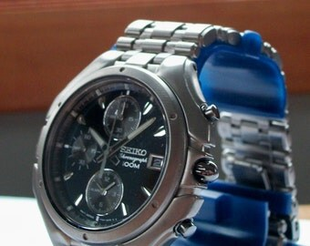 Brand-New Mens Seiko Chronograph Watch! Titanium! HTF! Retired! Out of Prod.