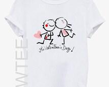 Valentines Day Tshirt top tshirt grilfriend boyfriend family gift