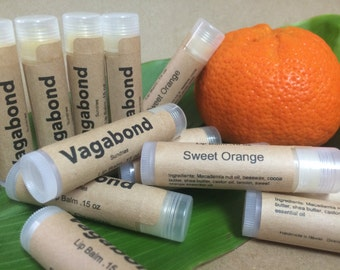 Natural Sweet orange lip balm