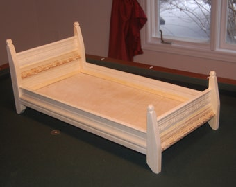 "American Girl doll bed. Fits 18"" dolls."