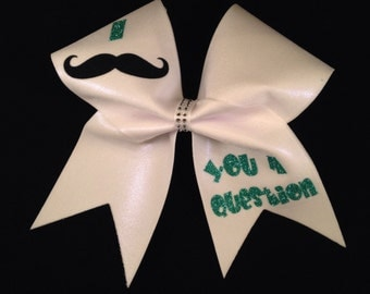 I Mustache You A Question Cheer Bow