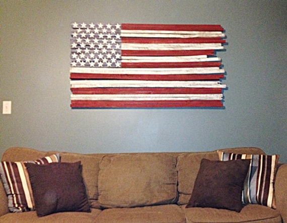 wooden american flag wall hanging 2