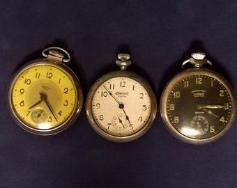 Lot Of Three Vintage Stop Watches, E1571
