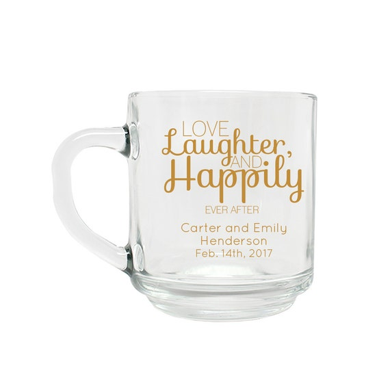 Items Similar To Wedding Favor Personalized Coffee Mug Love Laughter Wedding Favors