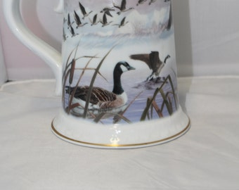 "Vintage 1983 Franklin Porcelain ""The Canada Goose Stein"""