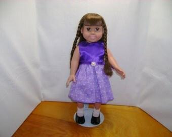 American Doll Dress Purple lavender dress for 18 inch dolls