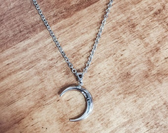Waxing Crescent Moon pendant necklace