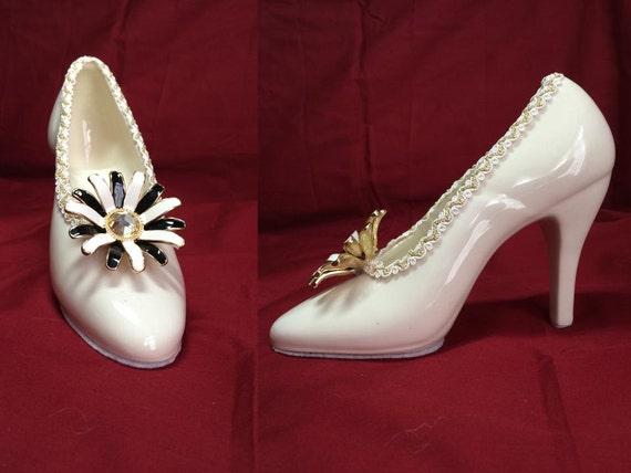 items similar to ceramic glazed high heel shoe on etsy