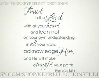 Trust in the Lord wall decal