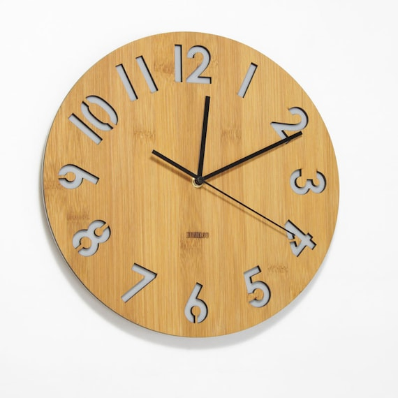 Modern All Numbers Wall Clock Gray by