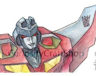 Transformers Starscream Watercolor Art Print