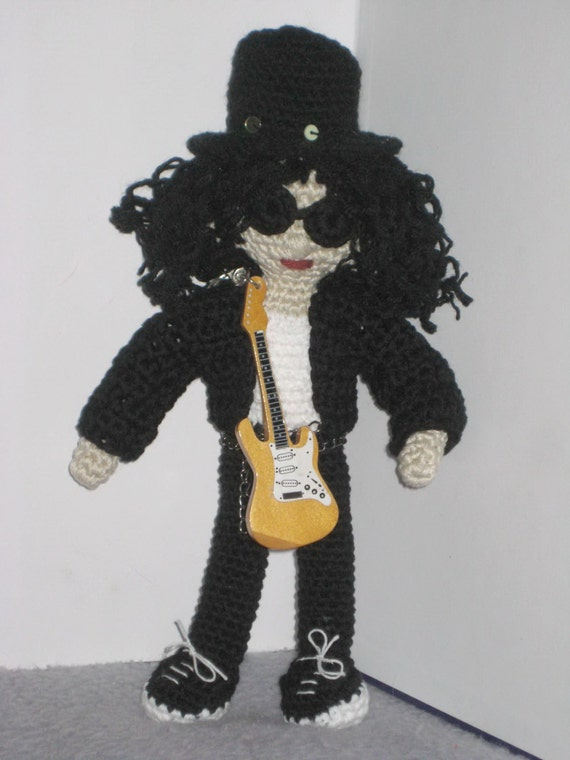 Amigurumi Guitar : Crochet pattern amigurumi doll Slash inspired - Crochet ...