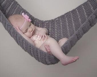 Crochet Baby Hammock. Photography Props. Hanging Baby Props. Baby Crochet