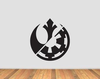 rebel alliance decal etsy