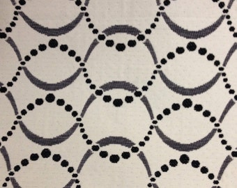 Black and White Wave - Upholstery Fabric By The Yard